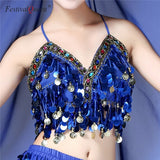 Multicolor Sequin Tassel Crop Top (11 Colors)