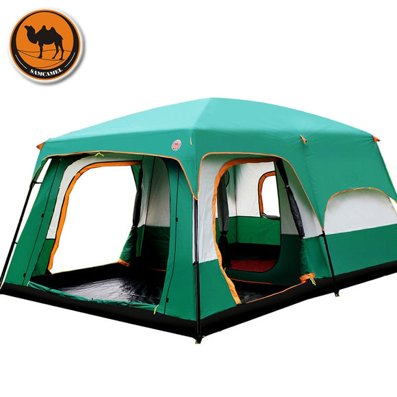 The camel outdoor 6/7/8/9/10-12 people camping 4season tent outing two bedroom tent big space high quality camping tent
