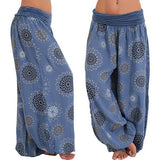 Boho Chic Print Zipped Waist Harem Pants (9 Colors)