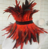 Black Rooster Feather Full Neck Collar