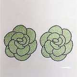 Colorful 3D Adhesive Pastie Stickers (1Pair)