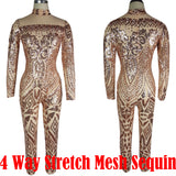 Eloquent Sequined and Plated Bodysuit
