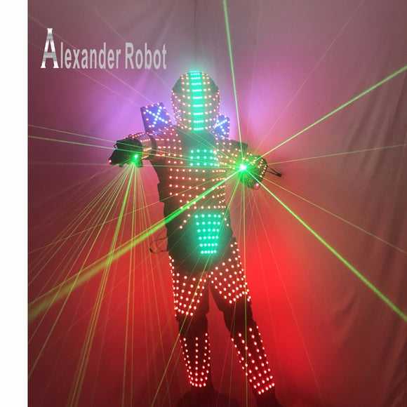 Laser LED Programmable Robot Suit And Helmet