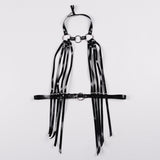Sexy Cool Street Caged Weave Round Plaid Shaping Shaper Leather Harness belt Body Bondage Skirts Chain Dress
