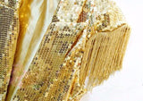 female male silver gold sequins vest jacket fashion singer performance Ds lead dancer clothing  tassel jazz dancer costume top