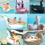 Gaint Inflatable floats Flamingo Swan unicorn duck Pool Float Summer Water Fun Toy Kid adult Inflated Ride-on air swimming Pool