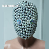 Burning Man Rave Costumes Pearl Couturte Mask Drag Queen Accessories Halloween Festival Clothes Outfits Stage Gear Gogo Show