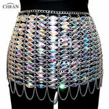 Irridescent Crystal Jewel Body Chain Skirt