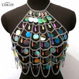 Mermaid Sequin and Jewels Cami Body Chain