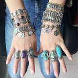 Gypsy Vintage Coin Charm Bracelets/Rings