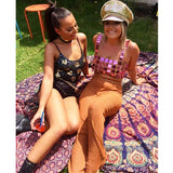 Acrylic Mirror Glitter Sequin Crop Tops 2018 Summer Beach Bralette Camisole Handmade Women Sexy Hollow Out NightClub Tank Top