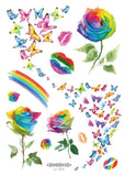 Rainbow Flash DIY Temporary Body Tattoos (9 Options)