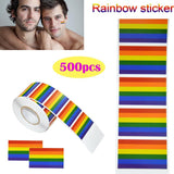 2018 New Rainbow Flag LGBT Sticker Rainbow Wall Stickers For Clothes Gay Pride Badges Face Body Stickers