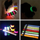LED Light Fluorescence Glow Wristband Bracelet