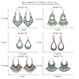 New Arrival Sale Trendy Bohemian Vintage Hollow Round Water droplets Pendant Earrings Boho Design Jewelry