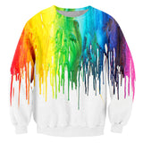 Novelty 3d T-shirt Men Women Harajuku Rainbow paint Print Funny T shirt Plus Size 4XL 5XL 6XL 7XL Oversize Unisex Custom Clothes