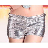 Exaggerated Mermaid Sequin Top and Hot Pants (5 Colors)