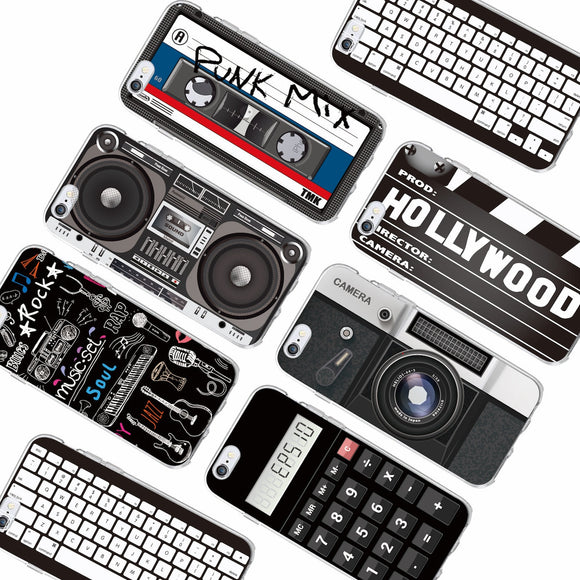 Retro Camera Cassette Tapes Calculator Keyboard Soft Phone Case Fundas For iPhone 11 Pro 6 6S 7 7Plus 5 5S 8 8Plus X XS Max