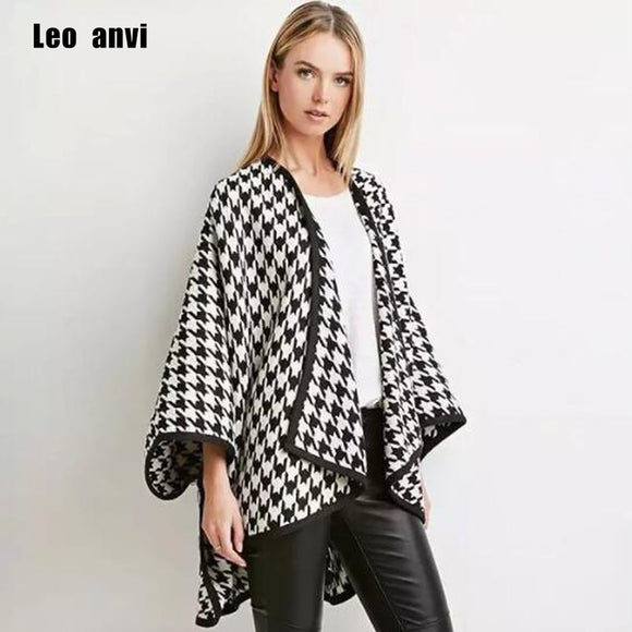 High Quality Winter Spring Fashion Wool Scarf Women Solid Thick Warm Knitted Scarves Houndstooth poncho Ladies Scarfs Shawls