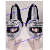 Cosplay  Soldier helmet Rivet mask bar nightclub stage party gogo show singer dance performance DJ hat