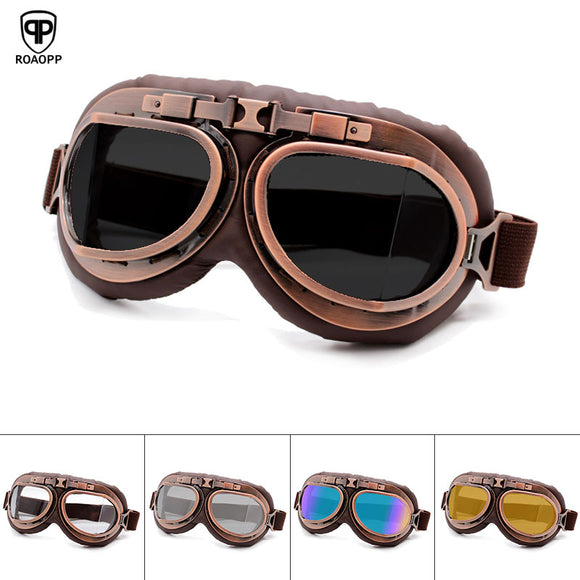 Copper Aviator Flexible Goggles