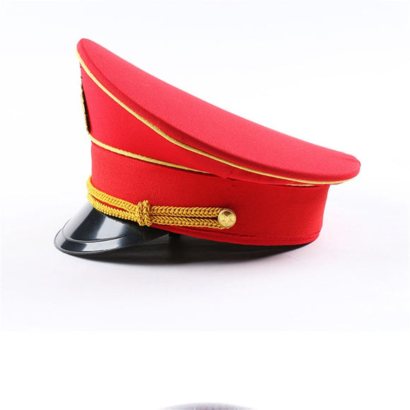 leather captain hat naval caps military hats wide brim army cap cospaly Halloween Christmas gift festival New year