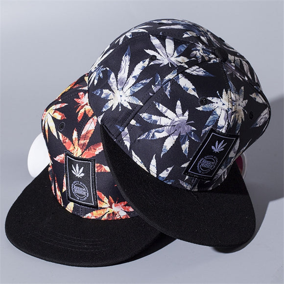 Maple leaf Snapback Hats Hip Hop weed Baseball Cap I Gorras Bones LOVE Haters For Men Women Bone Aba Reta Gorras Homme Casquette