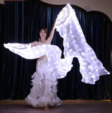 White LED Silk Fan Veil
