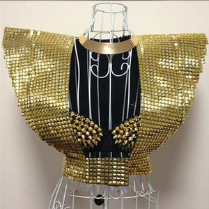 Ladies Riveted Shoulder Armor (Gold/Silver)