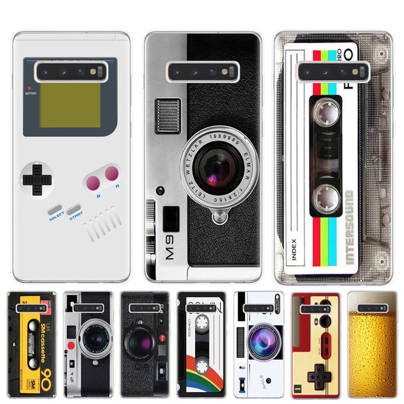 Vintage Tape Camera Gameboy Phone Case For Coque Samsung Galaxy S6 S7 Edge S8 S9 S10 Plus 5G Lite S10E M10 M20 Soft TPU Cover