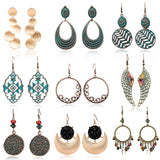 Multiple Kinds Vintage Bohemian Boho Ethinic Drop Earrings for Women Dangle Earrings Hanging Casual Jewelry Accessories