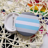 LGBT pins Transgender Pride Rainbow Gay Intersex Asexual Pride lapel pins Love is Bisexual Pansexual pins panromantic tin badge