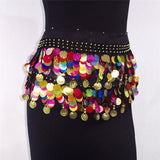 Multicolor Sequin Belly Dance Skirt (12 Colors)