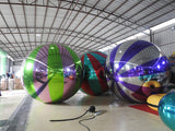 1m Inflatable Mirror Surface Christmas Ball Disco Mirror Ball Light Mirror Reflection Stage Festival Hanging Balloom
