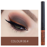Matte Eyeliner Eyes Makeup Delineador Waterproof Liner Pour Yeux White Blue Eye Liner Liquid for Party Mat Eyeshadow