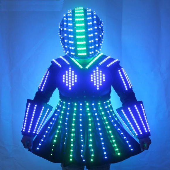 Miss LED Robot Dress with Helmet