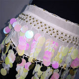 Boho Women Belly Dance Hip Chiffon Skirt Scarf Wrap Belt Coins Chiffon Hot Mini Skirt for Lady Wholesale Price