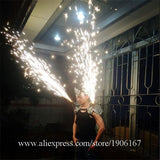 Silver Dance Bar Shoulder Wears Mask Singer Cold Fireworks Clothing Party DJ DS Disco Ballroom Light Costumes Supplies