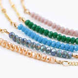 Chic Multicolor Opal Stone Choker Necklaces Fashion Gold Color Chain Crystal Necklace for Women Jewelry Short Chockers Collar