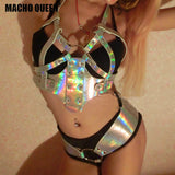 Iridescent Cage Harness Bralette