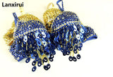 Handmade Belly Sequin Beaded Belly Samba Dance Bra Costume Fit for 80 Cup B