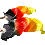 Tie Dye Stream Silk Fans - Pair (23 Colors)