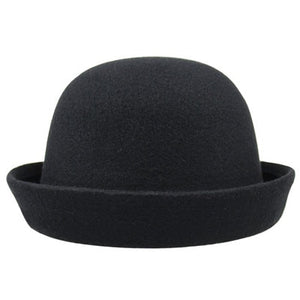 Wool Short Bill Fedora Hat (8 Colors)