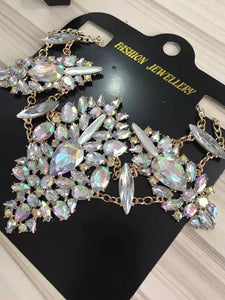 MYDANER Fashion Women Sexy Summer Bohemian Body Chain Charm Exaggerated Party Crystal Prethoracic Waist Belly Chain Body Jewelry