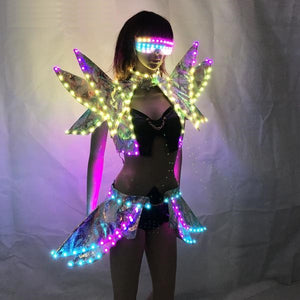 Colorful LED Galaxy Girl Outfit