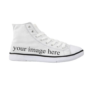 FORUDESIGNS Fashion Rainbow Women Walking Canvas Shoes Female Footwear Casual Shoes Female Daily High Top Canvas Shoes Custom