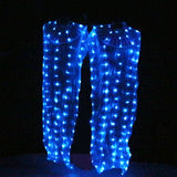 Colorful Bead LED Silk Fans - Pair (9 Colors)