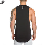 SJ 2017 Brand mens t shirts Summer Cotton Slim Fit Men Tank Tops Clothing Bodybuilding Undershirt Golds Fitness tops tees