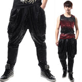 Men's Sequin Harem Pants