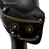 New Steampunk Gears Chain Mask Vintage Gothic Biker Punk Maskque